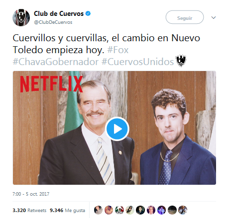 Club de Cuervos Vicente Fox