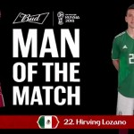 Eligen a Hirving Lozano como el Budweiser Man of the Match en el partido México vs. Alemania