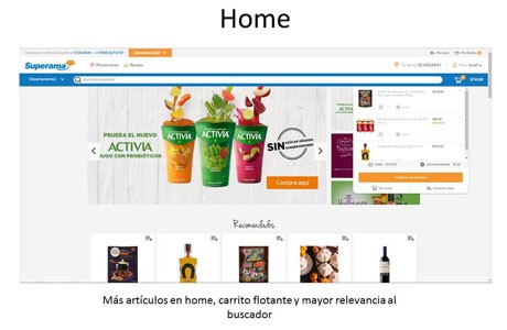 sitio web Superama
