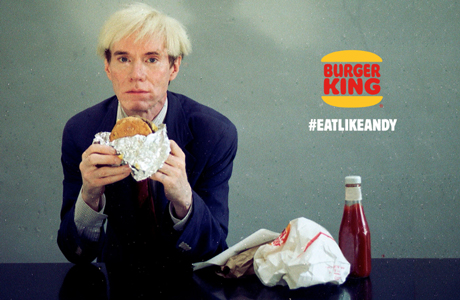 Burger King con Andy Warhol en el Super Bowl
