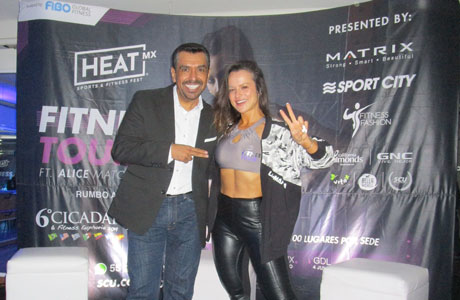 Alice Matos en Heat MX Fitness Tour