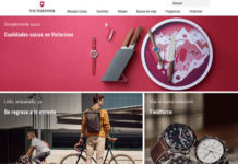 sitio de e-commerce Victorinox