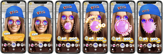 Snapcodes en chicles Bazooka