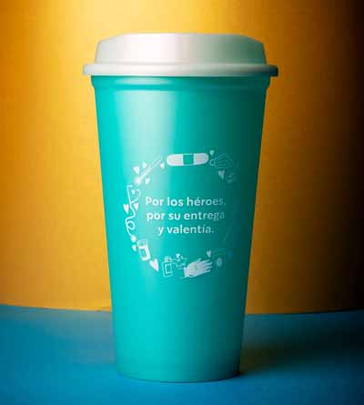 vaso reusable de Starbucks